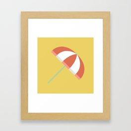 Summer Beach Umbrella Framed Art Print