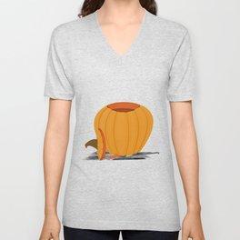 Carving a Pumpkin Unisex V-Neck