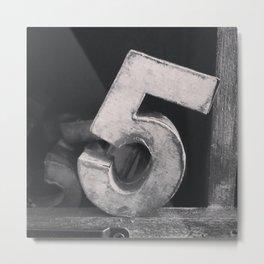 Number Crazy #5 Metal Print