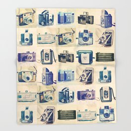 Vintage Camera Collection Throw Blanket