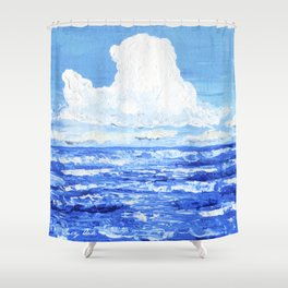 Infinite blue Shower Curtain