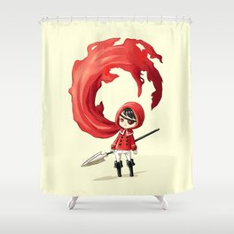 Red Cape Shower Curtain