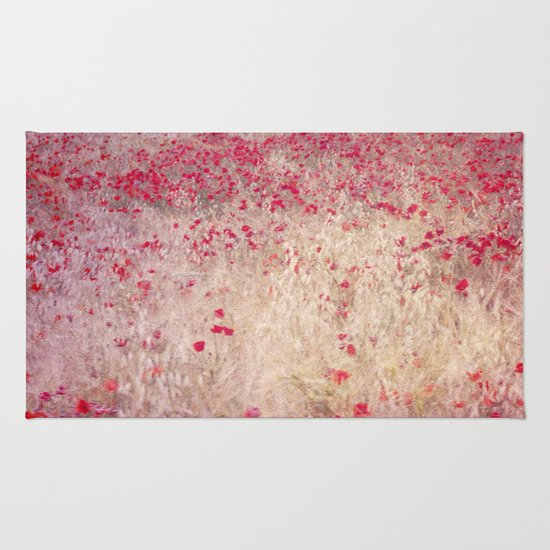 Fields of poppies Rug