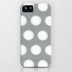 painted polka dots - gray  iPhone (5, 5s) Slim Case