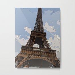 Eiffel Pastel, deux  Metal Print