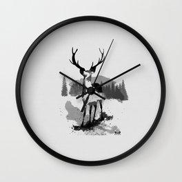 Deer - Watercolor Style Wall Clock