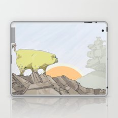 a pug turns into a rock robot Laptop & iPad Skin
