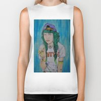 grimes Biker Tanks featuring Grimes by Jenn