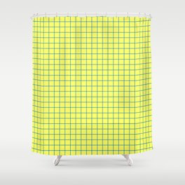 Yellow and Blue Grid - more colors Shower Curtain