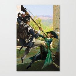 Elven Fantasy Duel Canvas Print