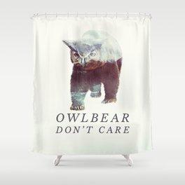 Owlbear (Typography) Shower Curtain