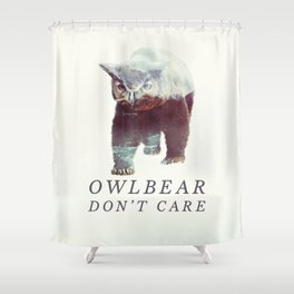 Owlbear (Typography) Shower Curtain