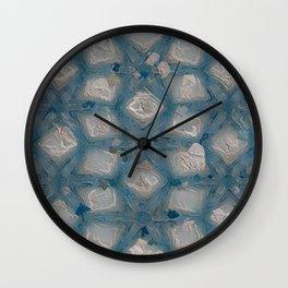 Cement and Aqua Blue Gunk #8294 Wall Clock
