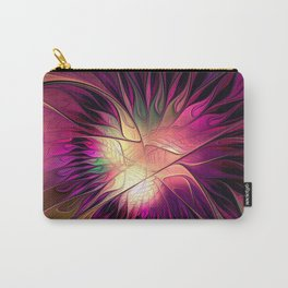 Flowering Fantasy, Abstract Fractal Art Carry-All Pouch