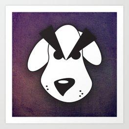 Peeved Pup Art Print