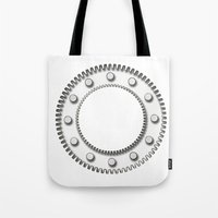 detroit Tote Bags featuring Detroit by Fernando Vieira