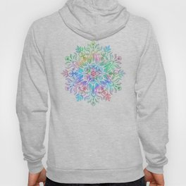 Nature Mandala in Rainbow Hues Hoody