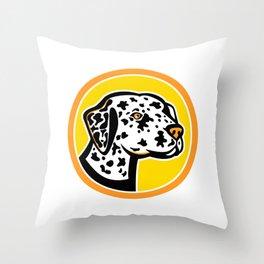 Dalmatian Dog Mascot Throw Pillow