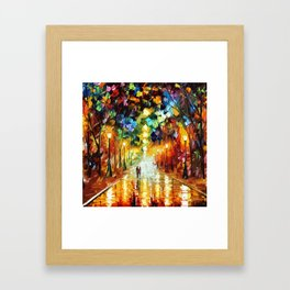 Romantic Starry Night Framed Art Print