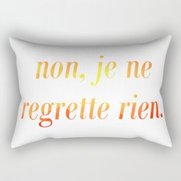 No Regrets! Rectangular Pillow