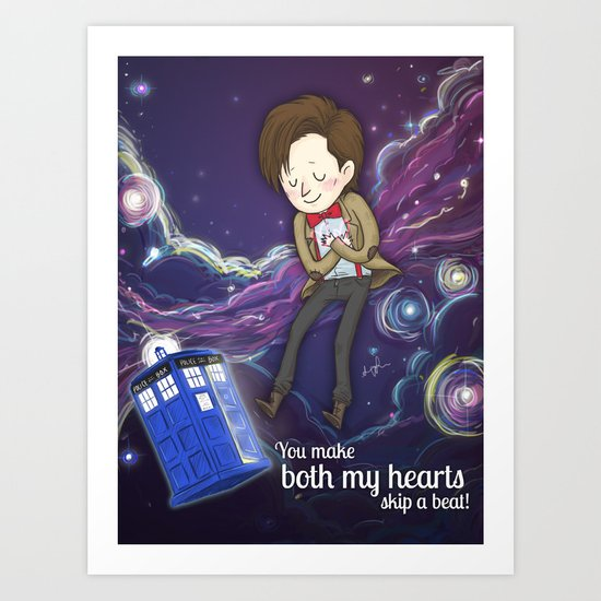 Doctor Who Love Art Print