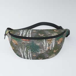 Sleepy Scandinavian Forest Fanny Pack