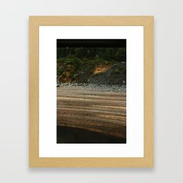 From a Moving Train (Sediment) Framed Art Print