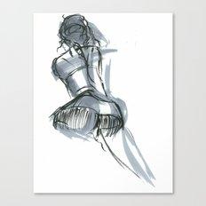 Kneel Canvas Print