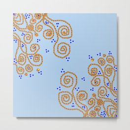 Girly swirly Metal Print
