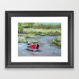 The Red Boat Chronicle Framed Art Print