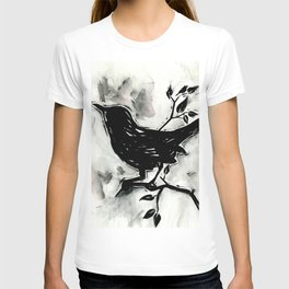 Black Bird 1 by Kathy Morton Stanion T-shirt