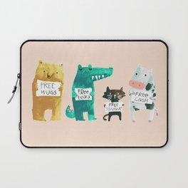 Animal idioms - its a free world Laptop Sleeve