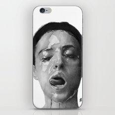 Monica Bellucci Traditional Portrait Print iPhone & iPod Skin