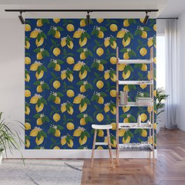 Lemony Fresh in Blue Wall Mural