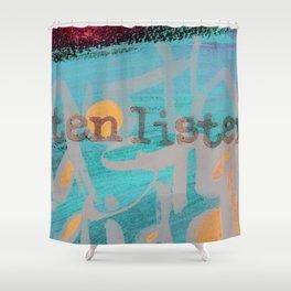 Listen Listen Shower Curtain