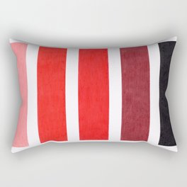 Colorful Red Geometric Pattern Rectangular Pillow
