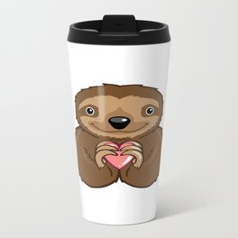 Sloth Love Metal Travel Mug