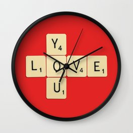 Love You Wall Clock