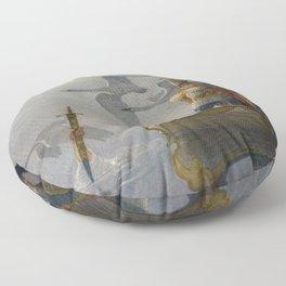 King Arthur and Excalibur Floor Pillow