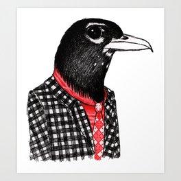 Mister Robin Art Print
