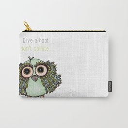 Don't Pollute Owl Carry-All Pouch
