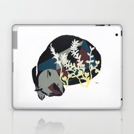 cat dreaming in meadow Laptop & iPad Skin