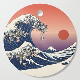 The Great Wave Of  French Bulldog Cutting Board