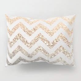 GOLD & SILVER CHEVRON Pillow Sham
