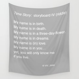 Time Story:  Storyboard IV (riddle) Wall Tapestry