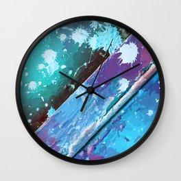 Texture 10. Neon Blue Wall Clock