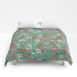 Rhodesian Ridgeback floral dog breed gifts pure breed must have dog pattern Comforters