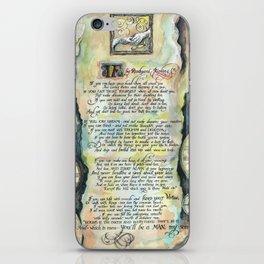 "Calligraphy of the poem ""IF"" by Rudyard Kipling iPhone Skin"