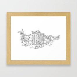 Ancient Rome roman forum Framed Art Print