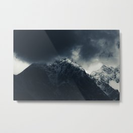 Darkness and storm clouds over mountains Metal Print